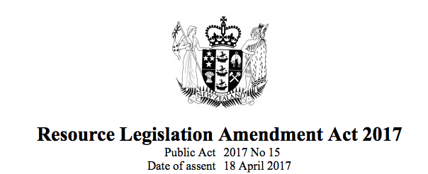 RMA Amendment Act 2017