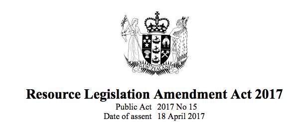 RMA Amendment Act 2017