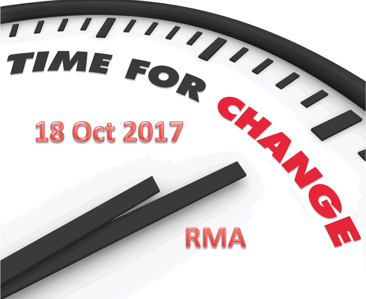 RMA Changes 18 Oct 2017